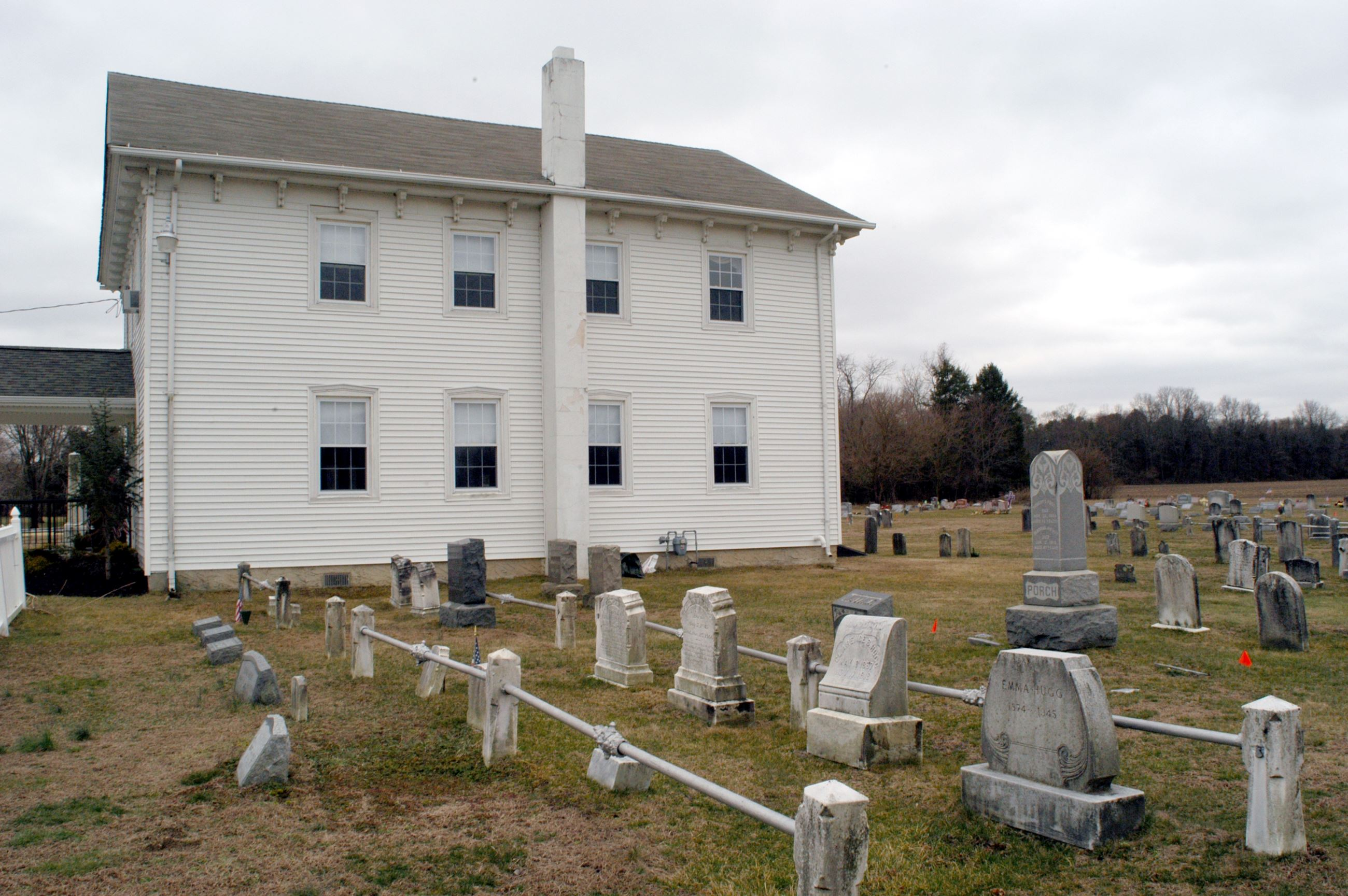 Side of Church with Graveyard